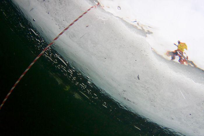 Under isen